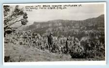 RPPC  BRYCE CANYON National Park, Utah UT ~ ca 1920s  Adams Photo Postcard