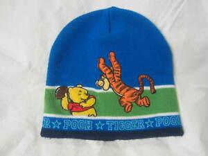 Disney - Blue Beanie Hat - Pooh & Tigger - Size Toddler
