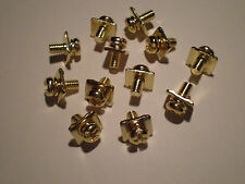 REAL GOLD PLATED AMPLIFIER / AMP POWER AND SPEAKER TERMINAL SCREWS 12pcs