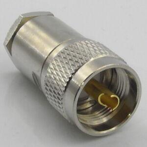 PL259 Plug Male Clamp for LMR400 RG213 Ecoflex Ultraflex Hyperflex 10 UHF