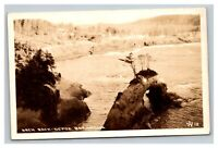 Vintage Early 1900's RPPC Postcard Depoe Bay Arch Rock UNPOSTED