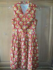 Bea & Dot ModCloth Palette on Parade Dress Retro Sleeveless Short Cotton XS 0 2