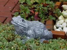 Steinfigur Tierfigur Frosch olivgrün