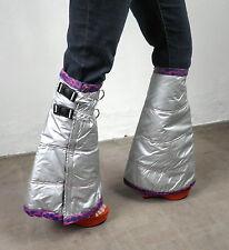 Silver Legwarmers Purple Pink Trim  Cosplay Cyber Rave Festival