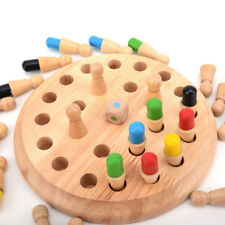 Kids Wooden Chess Memory Match Stick Puzzle Children Early Educational Gam New