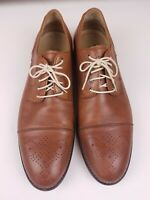 J&M Sheepskin Wingtip Oxford Mens Dress Shoes Size 10 M 206222 Johnston & Murphy