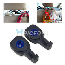 2PCS Fashion Black Car Interior Parts Auto Seat Bag Storage Hook Hanger Holder