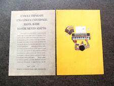 I402-Advertising Pubblicità- 1987 - BONTEMPI , TASTIERA ELETTRONICA