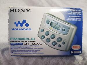 NEW Sony srf-m37l Walkman Digital Tuner FM MW LW RARE