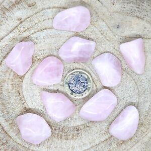 10 x Rose Quartz Crystals Tumblestones Seconds 82g-99g Reiki Healing Wholesale