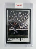 Topps Project70 Mickey Mantle by Joshua Vides Card #77 First Mantle Project 70
