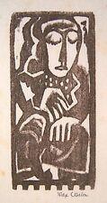"""MAX WEBER Signed 1919-20 Original Woodcut - """"Dancing Figure"""""""