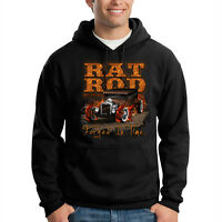 Rat Rod Forged In Time Classic Car Auto Racing Hooded Sweatshirt Hoodie