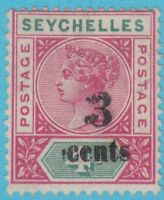 SEYCHELLES 22  1890 MINT HINGED OG *  NO FAULTS EXTRA FINE Double overprint !