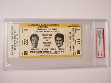 Sugar Ray Leonard Roberto Duran 1980 full boxing ticket PSA COA NM-MT 8