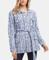 Karen Kane Printed Belted Cotton Jacket MSRP $118 Size XS # 6B 991 NEW