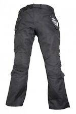 Modeka T5 Kids schwarz wasserdichte Kinder Motorrad Textil Hose verstellbar