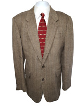 Vintage Jordache Men's Linen Blend Blazer Sportcoat  Color: Brown