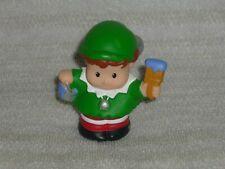 Fisher Price Little People Christmas Santa Helper Elf in Green Purple Paint