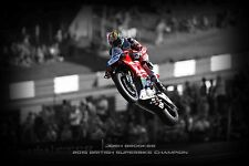 Josh Brookes 30x20 Inch Canvas - 2015 BSB Champion Framed Picture Yamaha R1