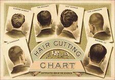"TARGA VINTAGE ""1884 HAIR CUTTING BARBER"" Pubblicità, ADVERTISING, POSTER, PLATE"