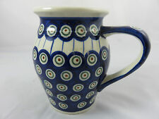 Boleslawiec Polish Pottery Blue Peacook Ceramic Kanne Bunzlauer Bunzlau