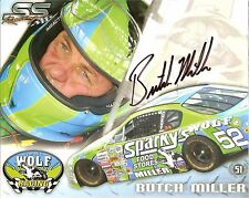 2004 BUTCH MILLER signed NASCAR ASA RACING WOLF PHOTO CARD POSTCARD wCOA vanity