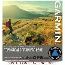 Garmin Topo Gran Bretaña Pro 1:50k microSD/SD tarjeta │ proporciona 3-D ver │ Para Gps