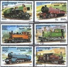Kambodscha 1585-1590 (kompl.Ausg.) gestempelt 1996 Lokomotiven verschied. Epoche