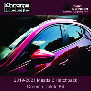 2019-2021 Mazda 3 Hatchback Chrome Delete Overlay