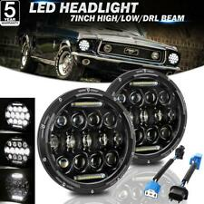 """For Ford Mustang 1965-1973 2X 7"""" inch LED Headlights High-Low DRL Projector Lamp"""