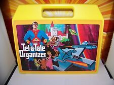 Vintage 80s Tel-A-Tale Organizer Cassette Book Case Super Powers He-Man G1