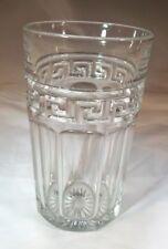 "HEISEY GLASS GREEK KEY CRYSTAL 5-1/4"" TALL 12-OUNCE STRAIGHT SIDES TUMBLER!"