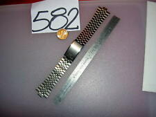"SEIKO SQ NOS. Stainless Steel Mens Watch BAND 7.5 mm Center 6 1/2""L, NO end"