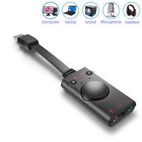 USB 2.0 3D Virtuel 7.1 Channel Sound Carte Adaptateur Câble Audio Cordon pour Pc