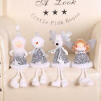 Christmas Bling Plush Girl Doll Toy Xmas Tree Pendants Ornaments Home Decor