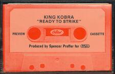 King Kobra Ready to Strike RARE promo advance Cassette '85