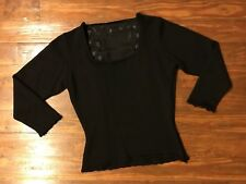 Zang Toi Silk/Cashmere/Wool Embroidered Sweater
