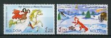 Moldova 2018 MNH Fairytales Horses Foxes Turtles Bears 2v Set Stamps
