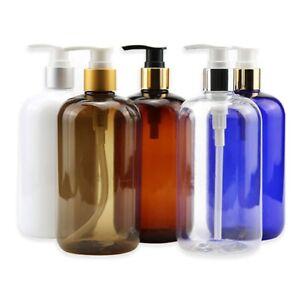 Plastic Soap Dispenser 500ml Transparent Bottle Lotion Gel Storage Pump Empty