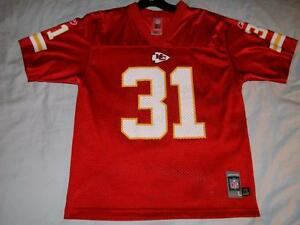 Priest Holmes 31 Kansas City Chiefs NFL Red Reebok Jersey Youth Large 14-16 used