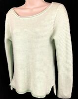 J. Crew (L) Womens Merino Wool Blend Pullover Sweater Crewneck Hi-Lo Long Sleeve