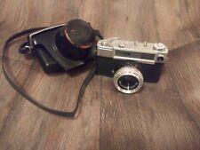 Yashica Minister-D, 35mm Film Rangefinder, 45mm f2.8 Lens W/  Case Cover