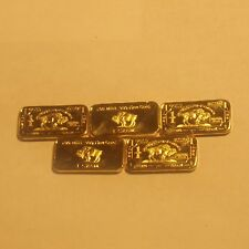 New listing 5 One Gram 100 mills 999 Fine Gold Buffalo Collector Bars.Lot 2