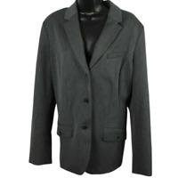 NWT Eddie Bauer Gray Button Front Coat Jacket Women's Size 16
