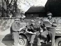 WWII B&W Photo US Military Police German Surrender  US Army MP's  WW2 / 1141
