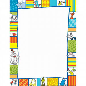 (3) - EUREKA DR SEUSS SHAPES COMPUTER PAPER (Set of 3). Shipping Included