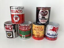 Set of 2 retro oil can mugs