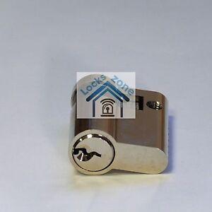 GARAGE DOOR LOCK EURO CYLINDER BARREL SECURITY NICKEL SHUTTER ANTIBUMP 3 KEYS