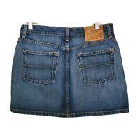 POLO By Ralph Lauren Mid-Rise Medium Wash Blue Denim Mini Skirt Women's Size 6